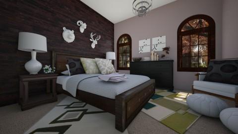 Rustic Traditional - Rustic - Bedroom - by Raquel Collison
