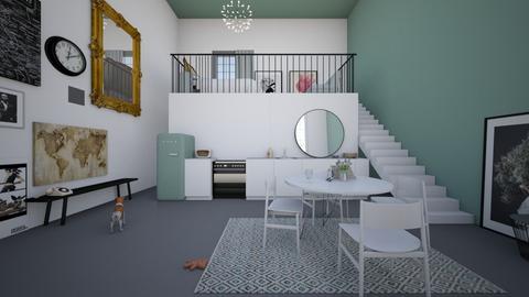 mezzanine apartment - Kitchen - by valeriemeinhold
