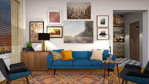 Orange Carpet - by rickglassinteriors