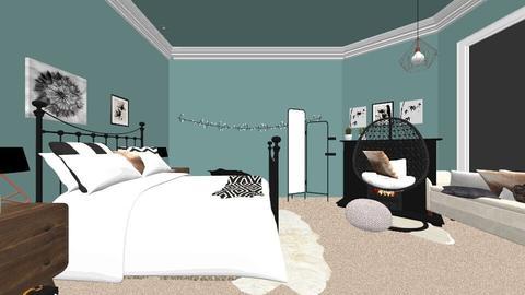 My Bedroom Plan - Retro - Bedroom - by Lauren05Thompson