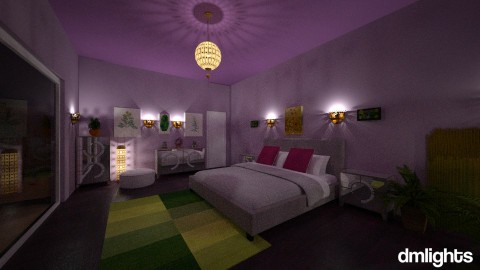 Purple and Green bedroomn - Modern - Bedroom - by Perta