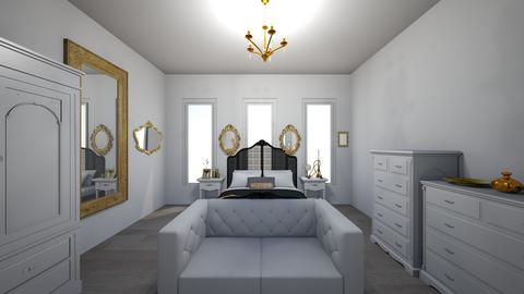 the gold mirror room - Modern - Bedroom - by jade1111