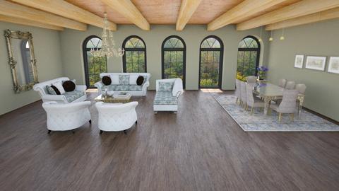 living_dining room - Living room - by maritaaslamazashvili