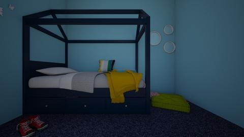 2kids 1teen room - Kids room - by saltycarrot