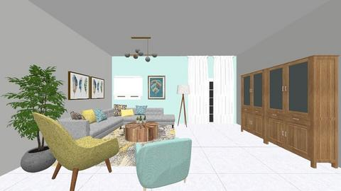 LIVING ROOM - Living room - by DVORA DIAMNT