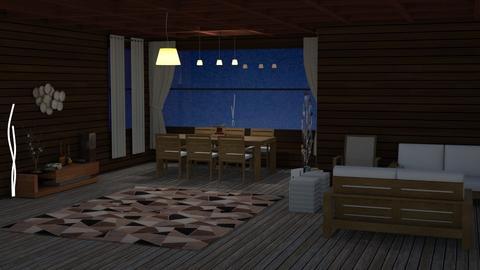 wooden house - by maritaaslamazashvili