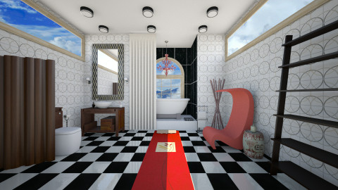 Love the red - Eclectic - Bathroom - by Nicky West