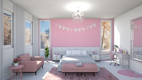 Winter pink - Bedroom - by Louise Hedlund