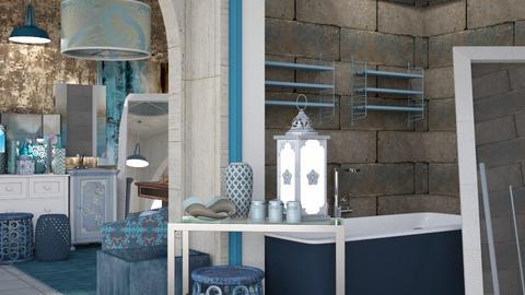 Delicate Blue - Global - Bathroom - by Jessica Fox