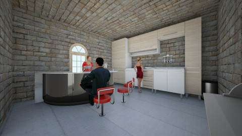 Bar Central - Rustic - Kitchen - by MLG2014