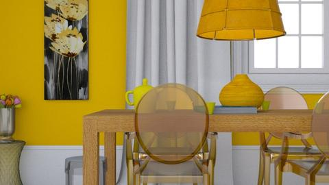 Minimal yellow dining - Minimal - Dining room - by HenkRetro1960