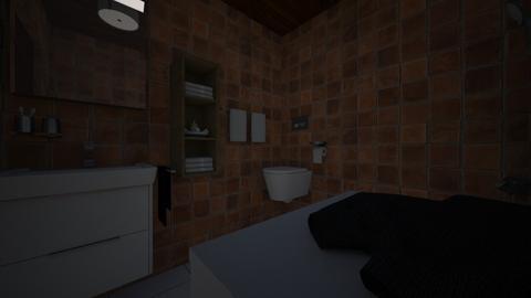 woody wood - Bathroom - by Brina Yunio