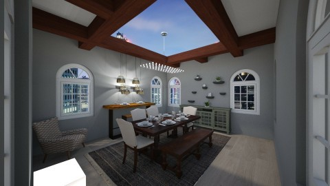 Dining room skylight - Classic - Dining room - by thebye