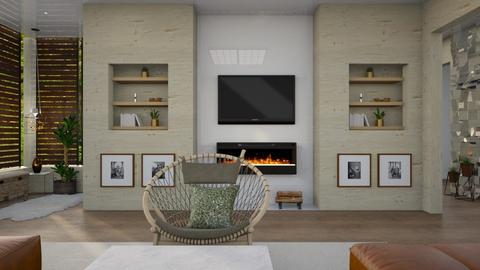 modern_brown - Living room - by elyssaumber
