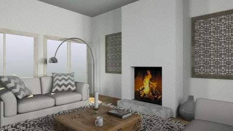 Salon rustic chic2 - Living room - by Yellow Moon Design