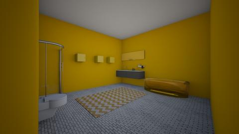 yellow bathroom - Bathroom - by brittanyburton