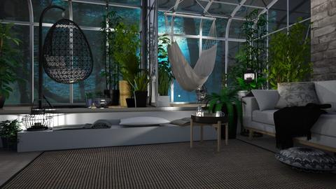 greenhouse living room - by chloelm92
