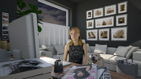 Home Office for Kelly - Office - by Valentinapenta