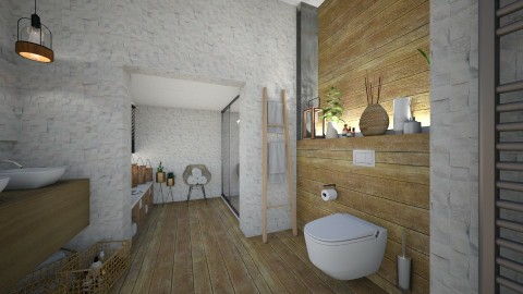 Wood and White - Modern - Bathroom - by StienAerts