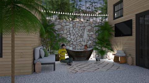 Outdoor Bath People - Garden - by lovedsign