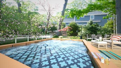 Backyard - Classic - Garden - by Bibiche