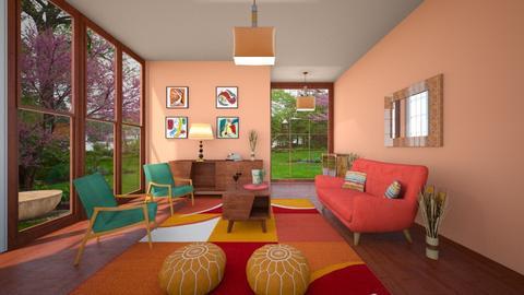 Mid Century Modern Living - Living room - by Tzed Design