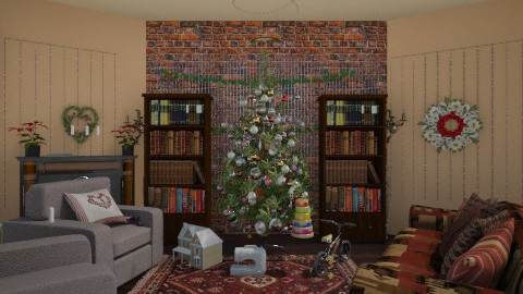 Christmas - Rustic - Living room - by Gingerverted