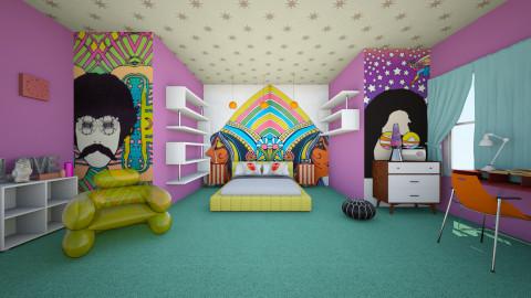 Retro Bedroom - Retro - Bedroom - by manicpop