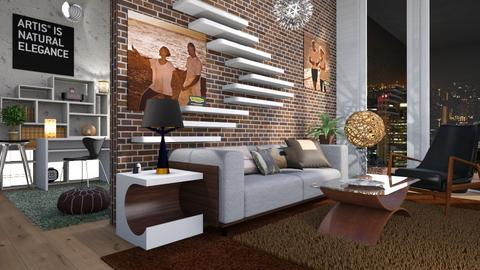 M_ Artisan flooring - Living room - by milyca8