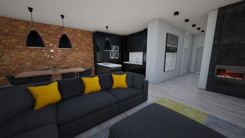 Loft house - Modern - Living room - by Zosia Zakrzowska