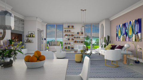 Maraschino_Chalky White - Modern - Living room - by janip