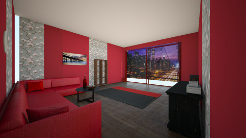 red room - Living room - by Annie_Anne