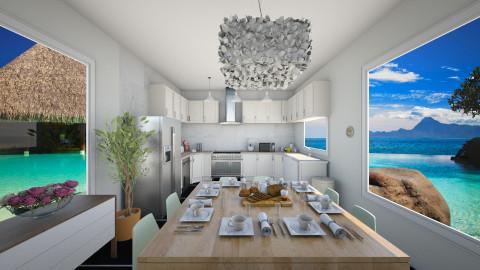 oasis kitchen - Kitchen - by MilenaTheDesigner