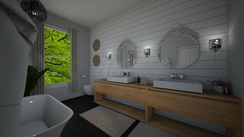 posh bathroom - by PoukInteriors