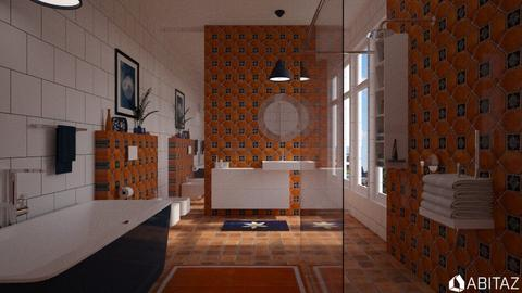 orange and blue - Bathroom - by rrogers47