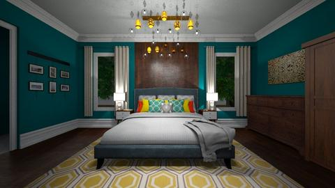 Colourful Dreams - Bedroom - by Nikki Lipstick