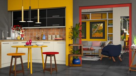 Colored 2 - Modern - Kitchen - by Jessica Fox