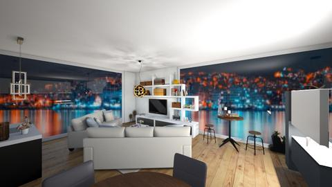 city apartment 2 - Living room - by noonk