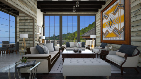 The way to Kuala Lumpur - Rustic - Living room - by Lucii