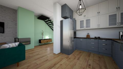 Salon kuchnia OLIwka - Living room - by Steefy