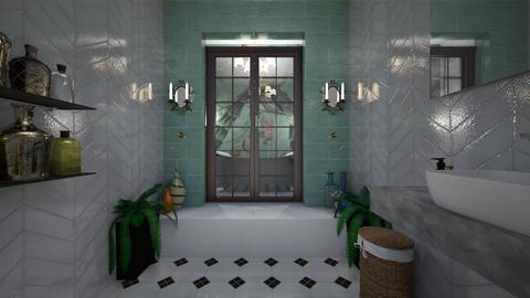 shower time - Bathroom - by Kylie Awa