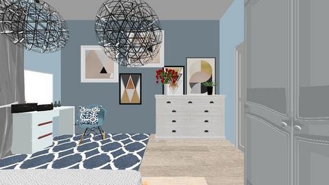 Sypialnia - Bedroom - by Marta Kopiec