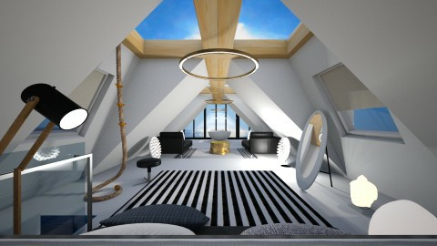 Attic Room with Dormer - by ritsa