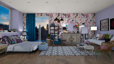 eclectic bedroom - Eclectic - Bedroom - by mari mar