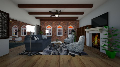 living room  - by mbickel
