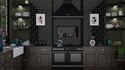 Dark Kitchen - Kitchen - by rachaelphillips636