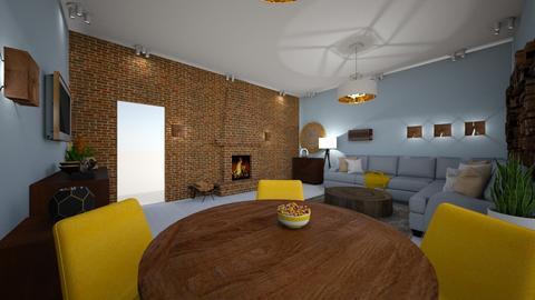 drewno - Masculine - Living room - by DERRYS