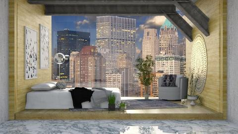 City Glass Wall - Bedroom - by millerfam