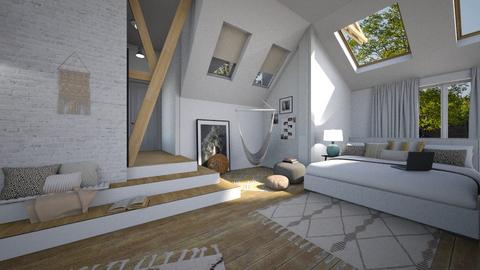 attic room - Vintage - Bedroom - by tolo13lolo