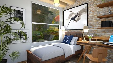 Tiny Industrial bedroom - by rungsimas